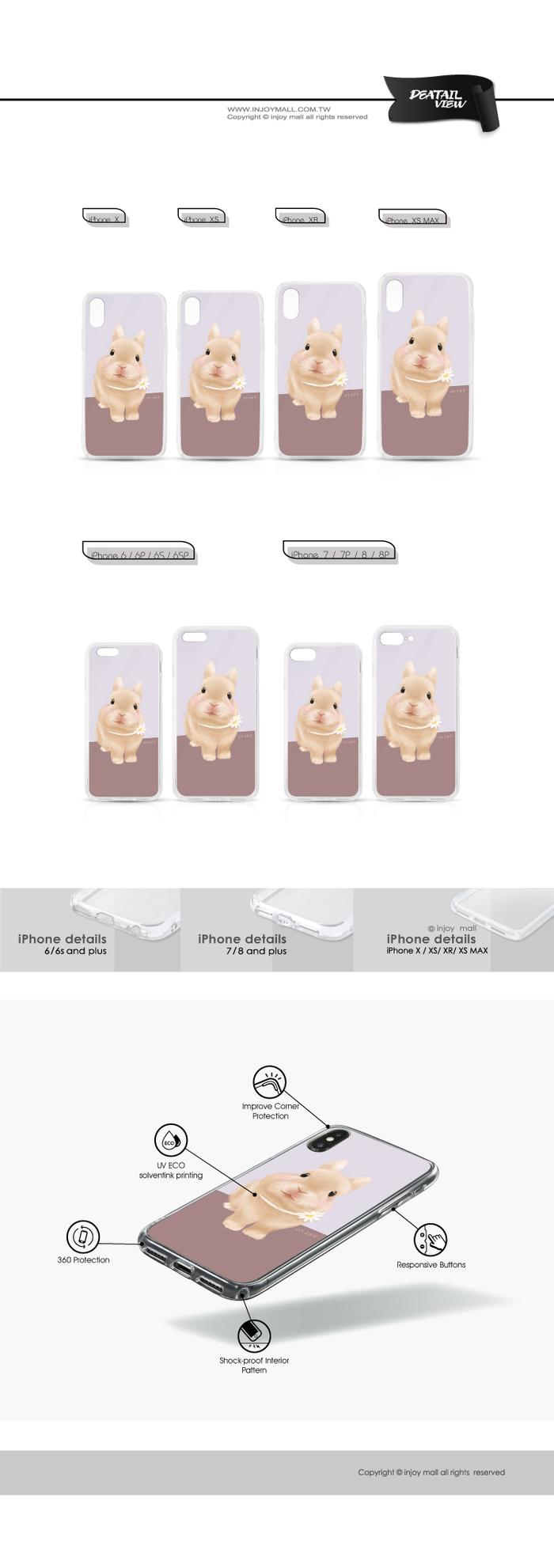 (複製)INJOY mall|iPhone 6 / 7 / 8 / Plus / X / XS / XR / max 系列 波波迷你豬透明耐衝擊防摔手機