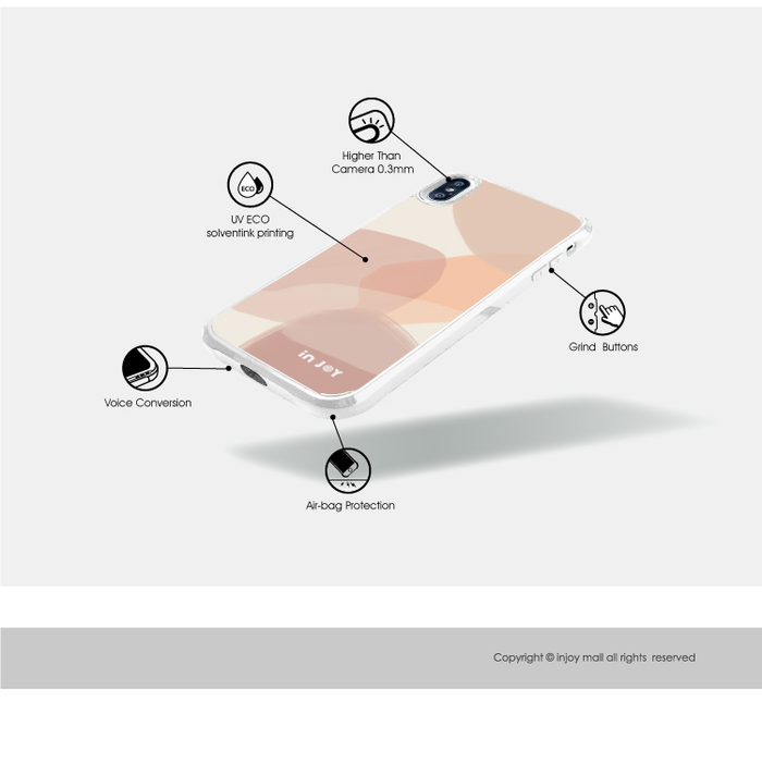 (複製)INJOY mall|iPhone 7/8/Plus/X/XS/XR/max 輕柔米蘭幾何色塊耐撞擊邊框手機殼