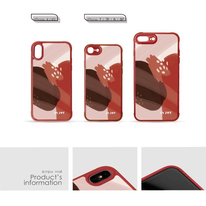(複製)INJOY mall|iPhone 7/8/Plus/X/XS/XR/max 法式浪漫幾何色塊耐撞擊邊框手機殼