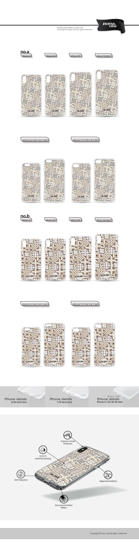 INJOY mall|iPhone 6/7/8/Plus/X/XS/XR/max 摩洛哥花磚透明耐衝擊防摔手機殼