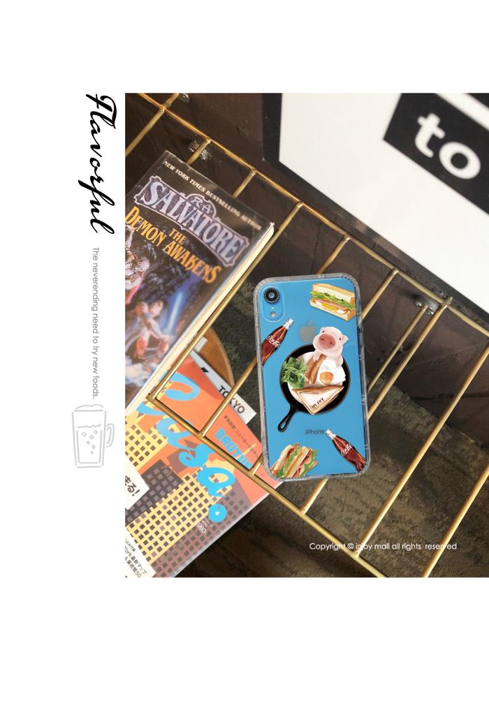 (複製)INJOY mall|iPhone 6/7/8/Plus/XS/XR/max小熊貓吃拉麵防摔耐震亮面手機殼