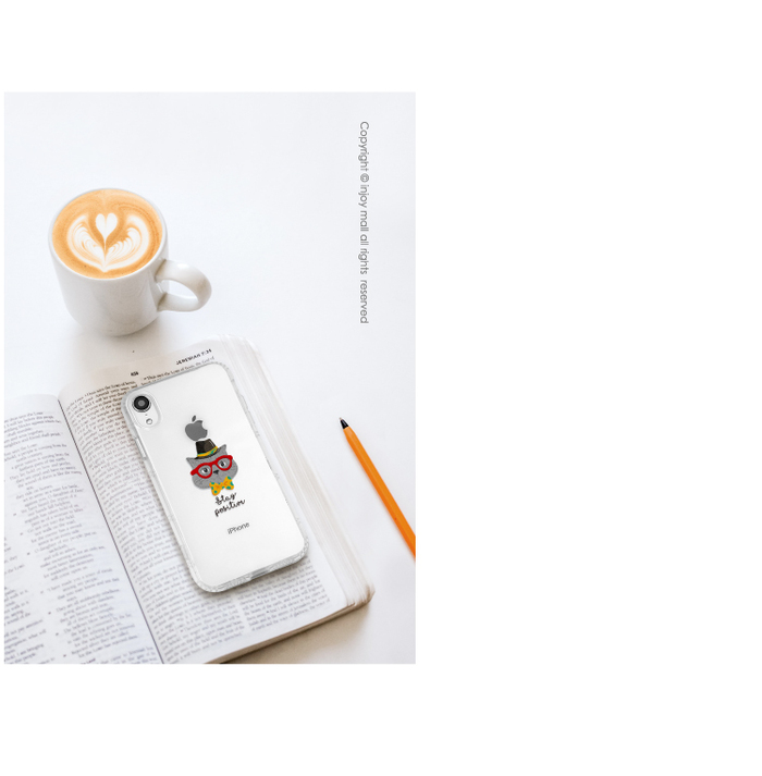 INJOY mall|iPhone 6/7/8/Plus/XS/XR/max魔術帽貓防摔耐震亮面手機殼
