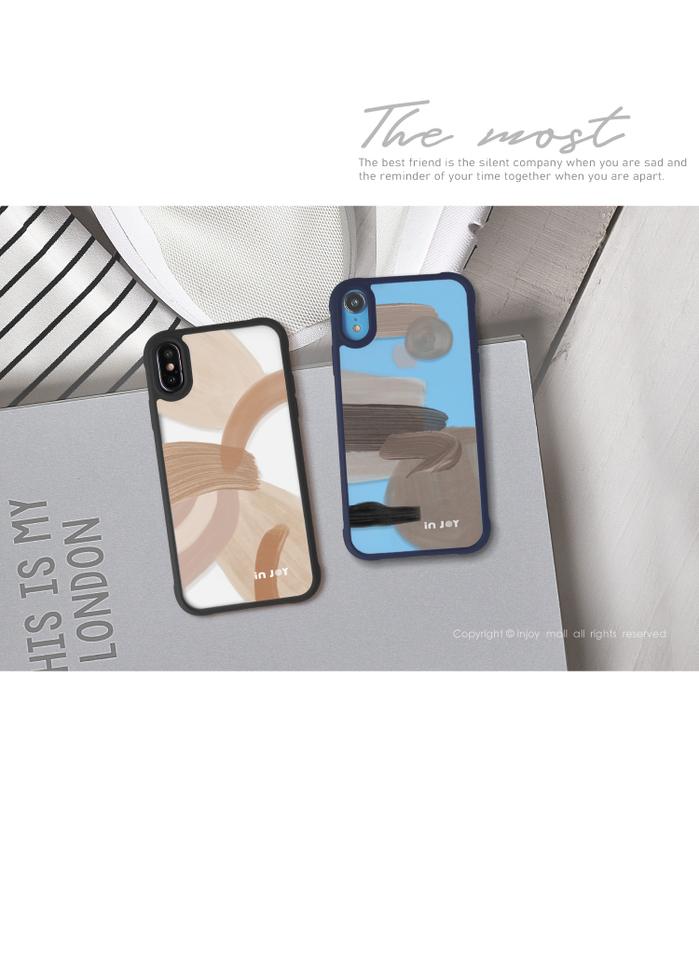 (複製)INJOY mall|iPhone 7/8/Plus/X/XS/XR/max/11 pro/11 max 淡雅自信 耐撞擊磨砂邊框手機殼