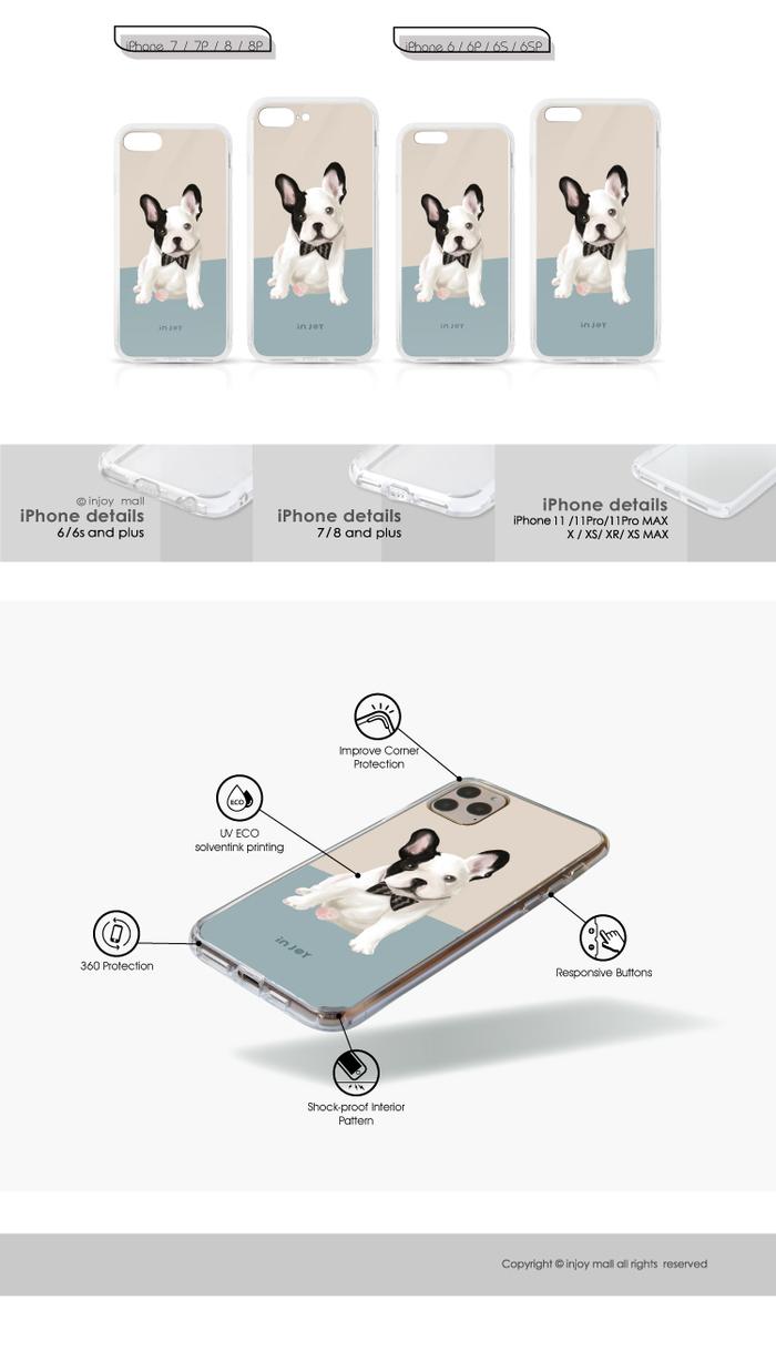 INJOY mall|iPhone 6/7/8/Plus/X/XS/XR/max 英倫法鬥 透明耐衝擊防摔手機殼