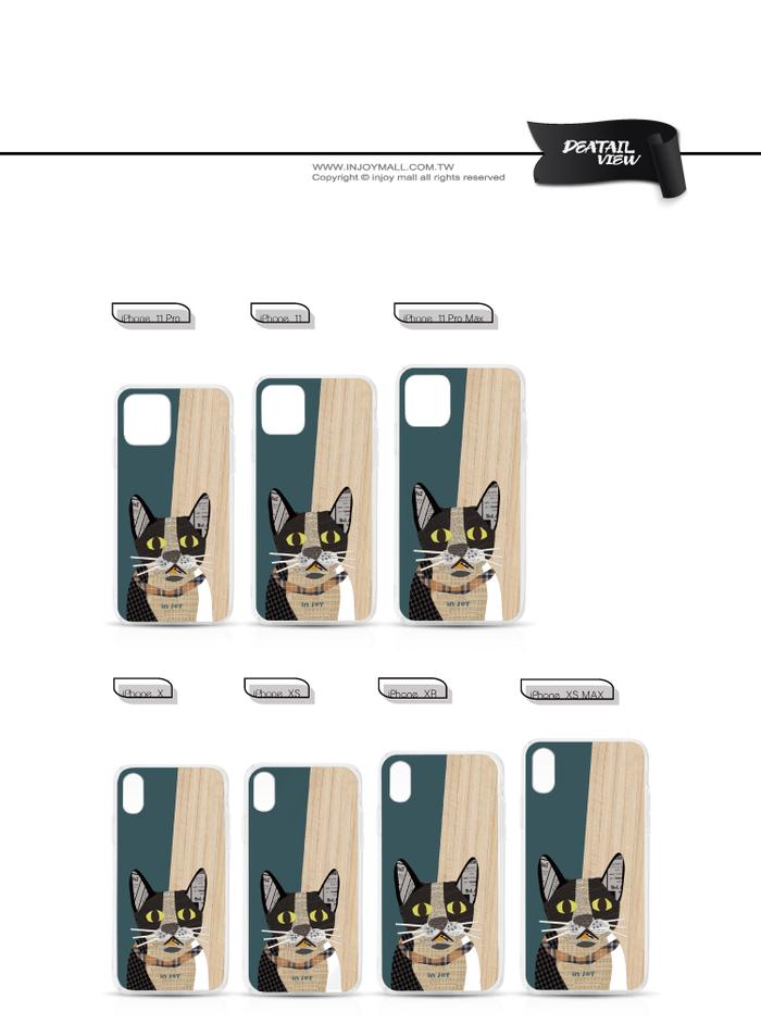 (複製)INJOY mall|iPhone 6/7/8/Plus/X/XS/XR/max 拼貼紅寶石圓眼貓 透明耐衝擊防摔手機殼