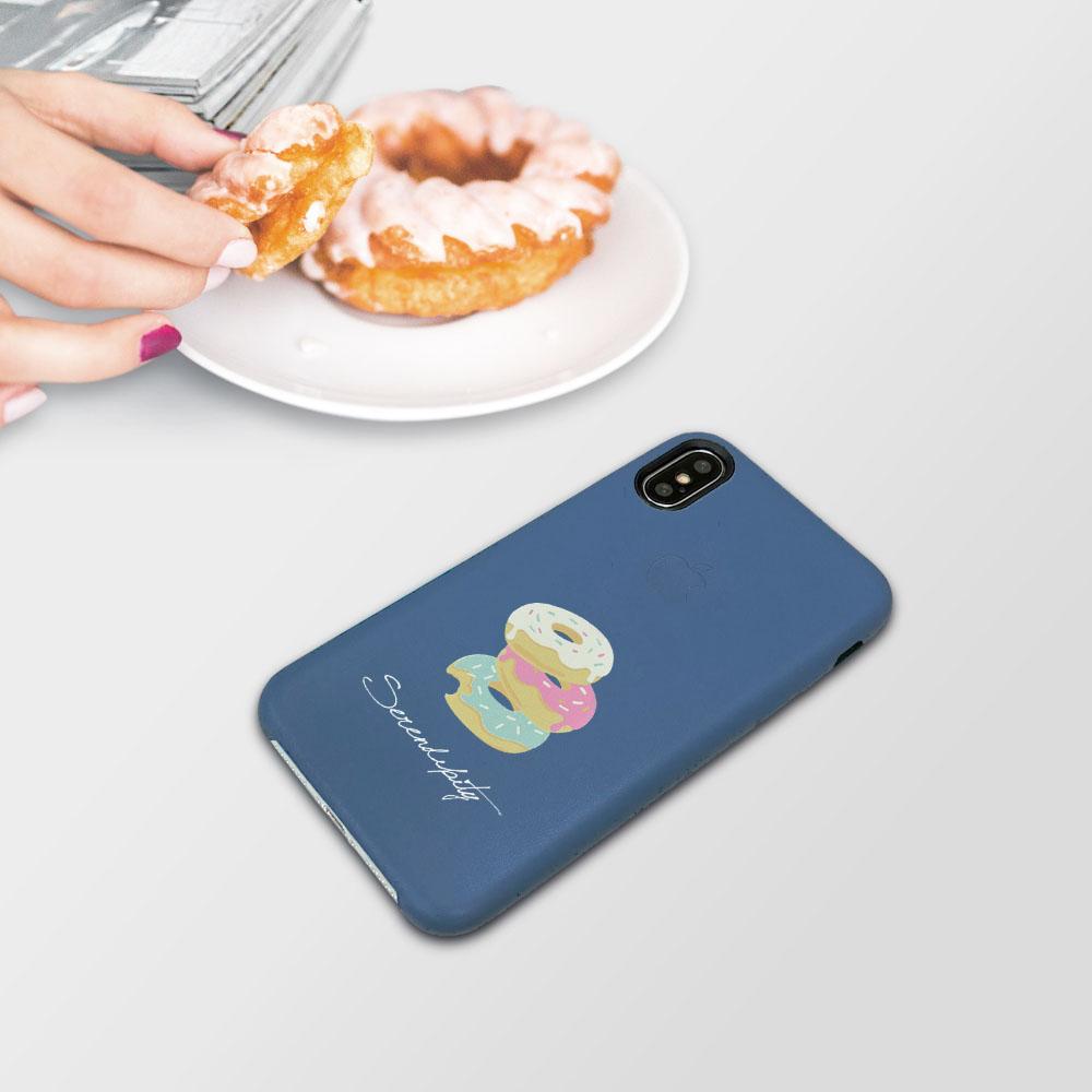 INJOY Mall|iPhone 7 / 8 / Plus / X 系列 戀愛滋味甜甜圈 皮質手機殼