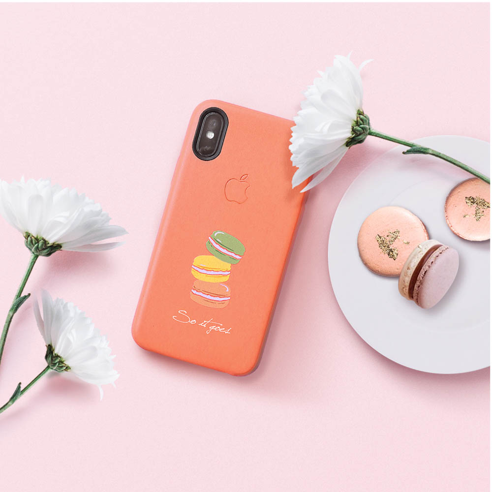 INJOY mall|iPhone 7 / 8 / Plus / X 系列 繽紛馬卡龍皮質手機殼 保護殼
