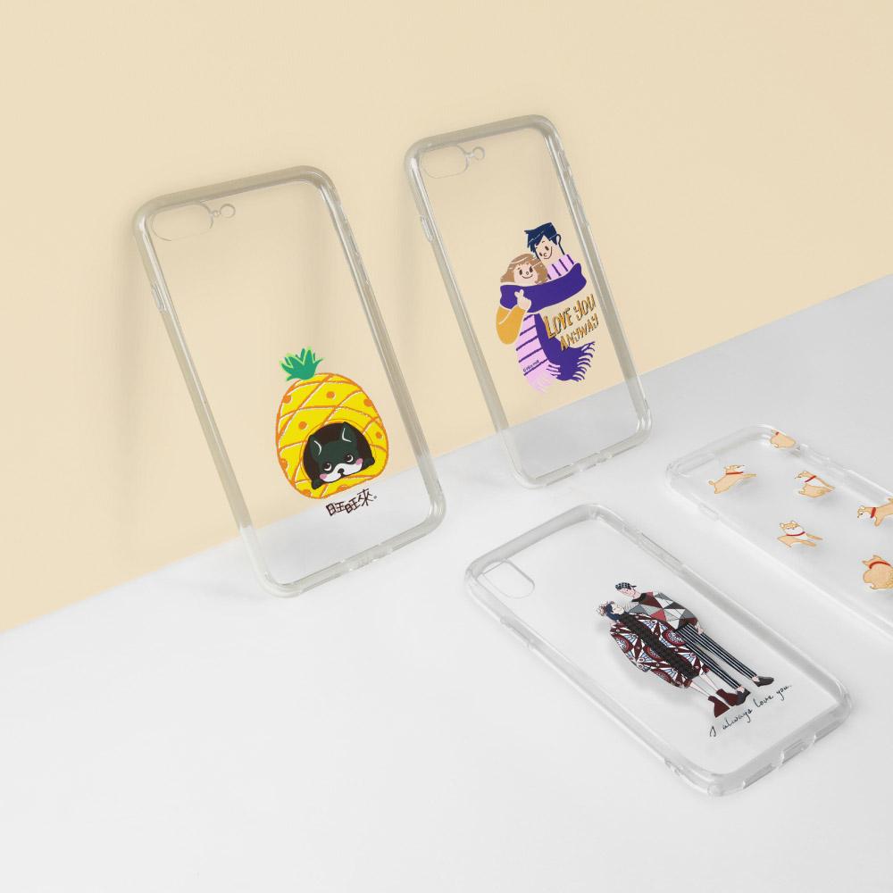 INJOY mall|iPhone 6 / 7 / 8 / Plus / X 系列 汪一個! 旺旺來法鬥透明 耐衝擊防摔手機殼