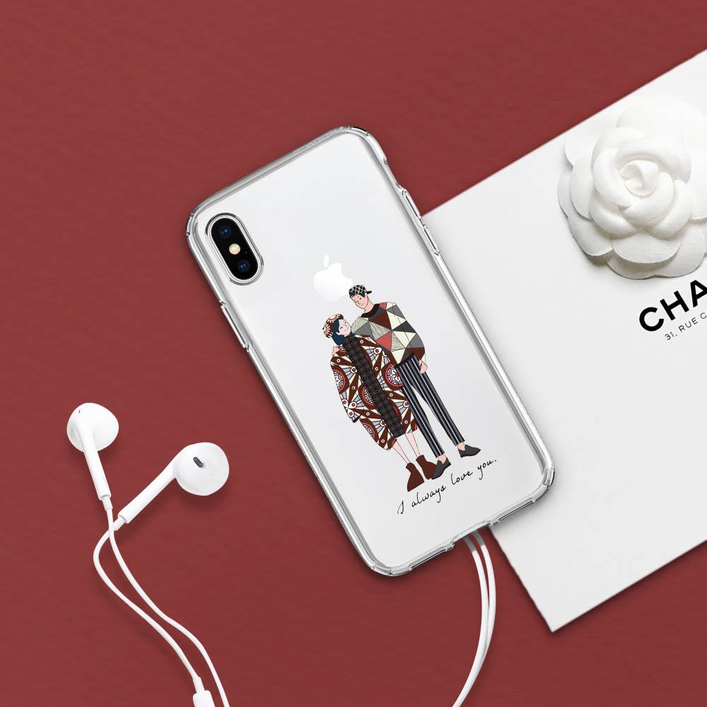 INJOY mall iPhone 6 / 7 / 8 / Plus / X 系列 情人節 客製 訂製 禮物 透明 耐衝擊防摔手機殼