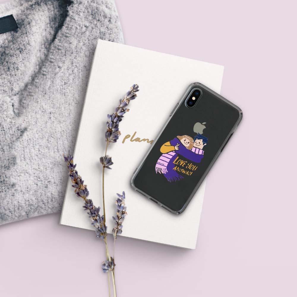 INJOY mall iPhone 6 / 7 / 8 / Plus / X 系列 濃得分不開透明 耐衝擊防摔手機殼