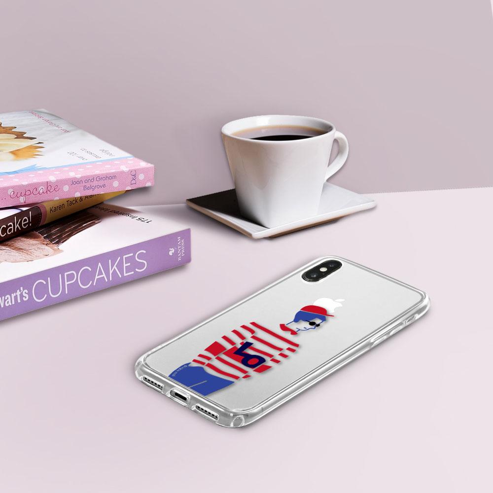 INJOY mall iPhone6/7/8/Plus/X/XS/XR/max/11/11pro/11max簡約文青情侶男生款透明防摔手機殼