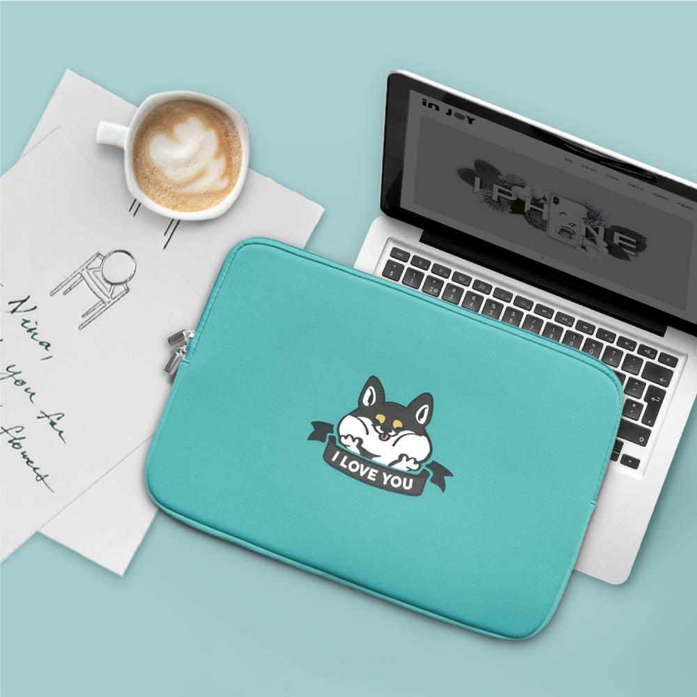 INJOY mall|MacBook Air / MacBook Pro / 11,13,15吋,I LOVE YOU柴犬,apple筆電包 / 筆電保護套