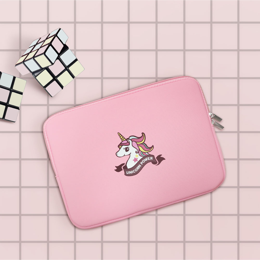 INJOY mall|MacBook Air / MacBook Pro / 11,13,15吋,微甜幸福獨角獸,apple筆電包 / 筆電保護套