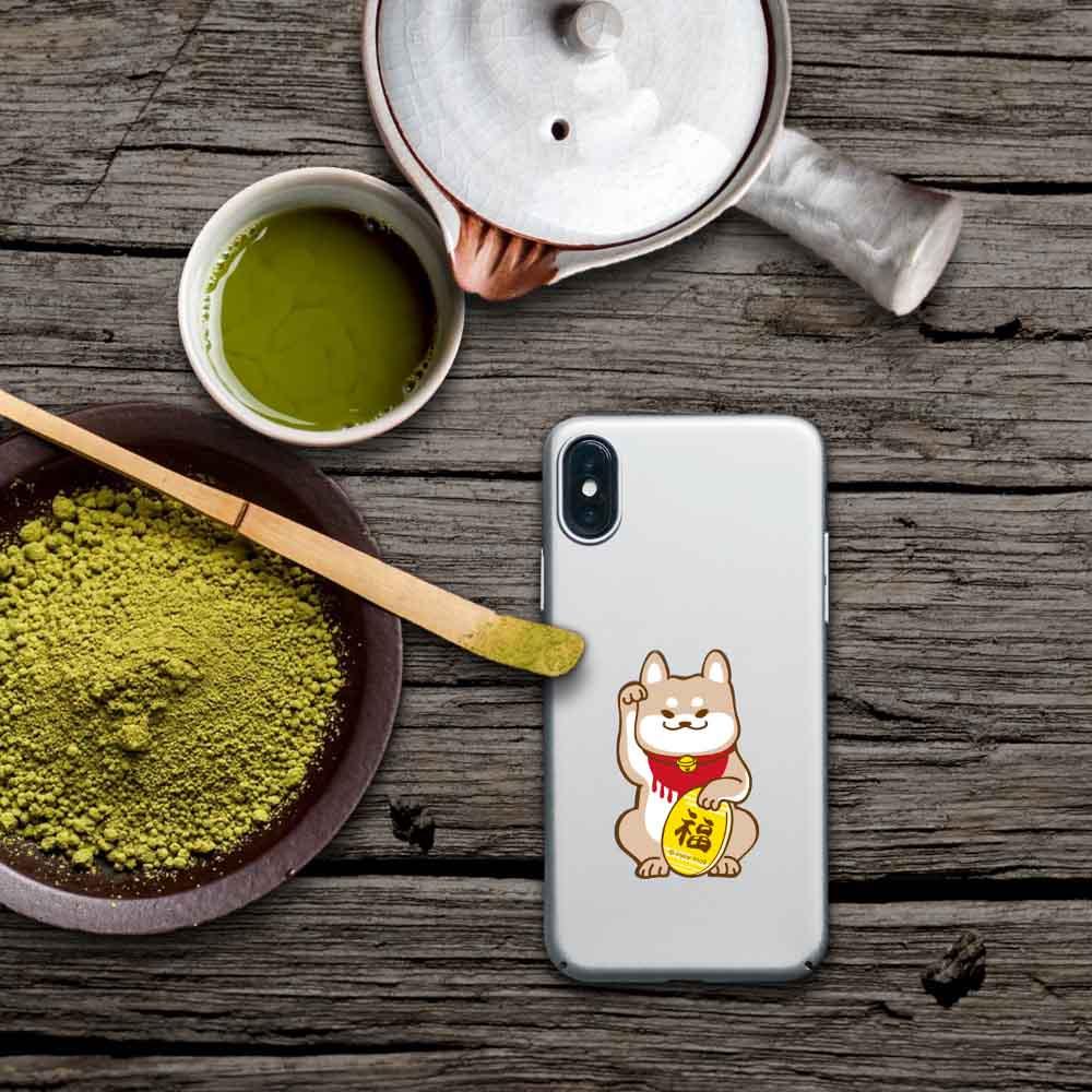 INJOY mall iPhone 6/7/8/Plus/X 淘氣柴犬招福 超輕薄磨砂手機殼