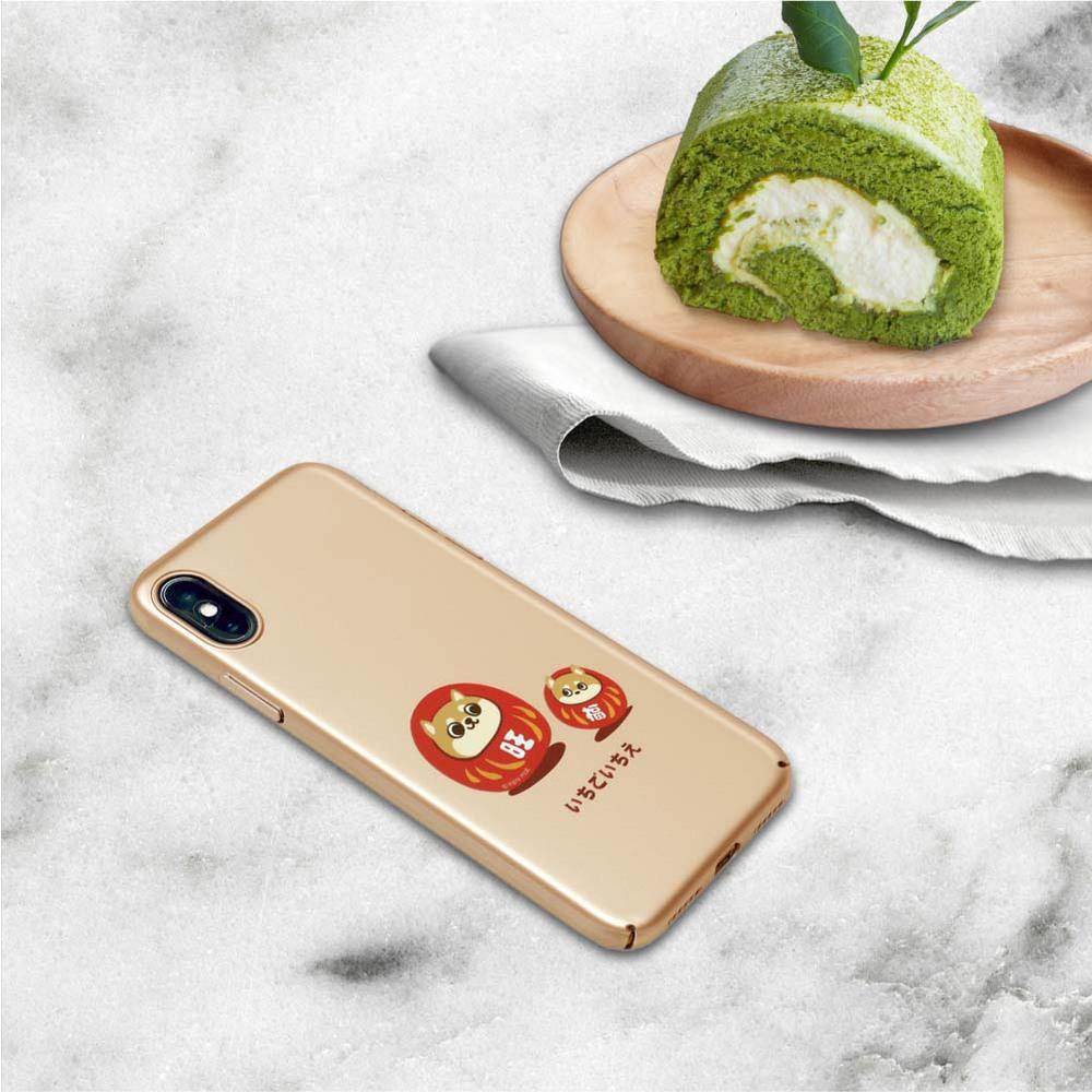 INJOY mall iPhone 6/7/8/Plus/X 旺福柴犬不倒翁 超輕薄磨砂手機殼