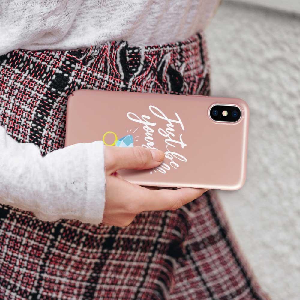 INJOY mall iPhone 6 / 7 / 8 / Plus / X 系列 最好的禮物就是自己玫瑰金 超輕薄磨砂手機殼