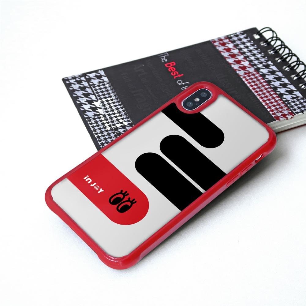 INJOY mall iPhone 7/8/Plus/XS/XR/max/11/11pro/11max 童趣簡約大眼耐撞擊邊框手機殼