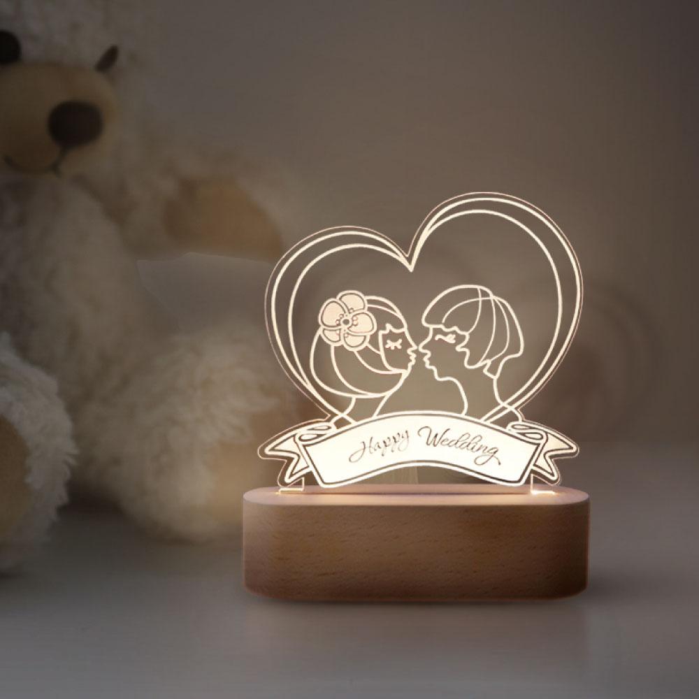 INJOY mall|3D小夜燈  Happy Valentine's Day 愛心情人節