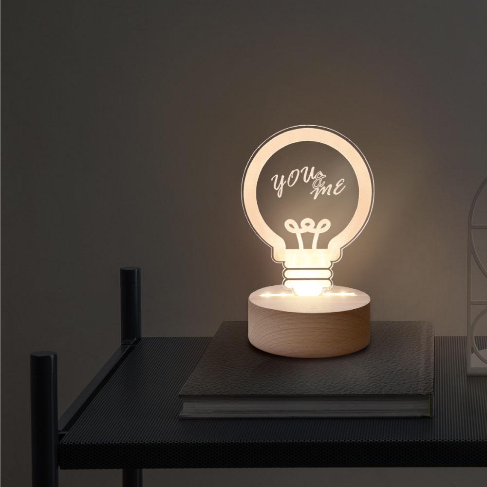 INJOY mall|3D小夜燈  工業風燈泡