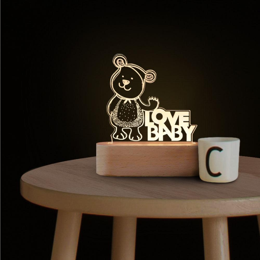 INJOY mall|3D小夜燈  小熊小夜燈