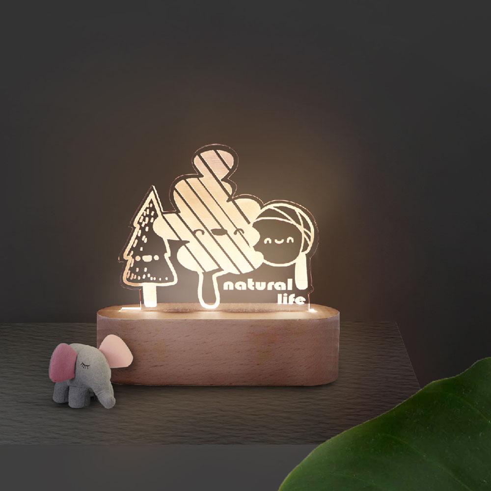 INJOY mall|3D小夜燈 童趣森林
