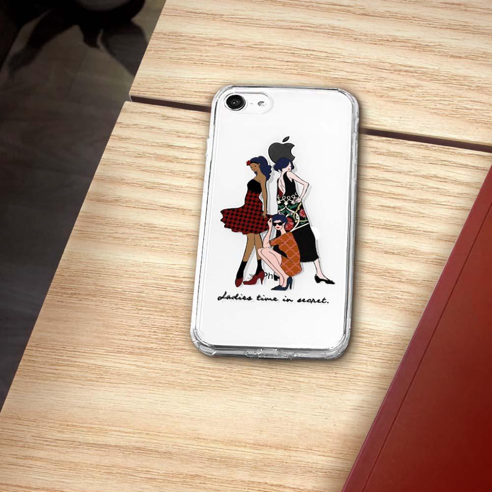 INJOY mall|iPhone6/7/8/Plus/X/XS/XR/max姐妹們派對時間透明耐衝擊防摔手機