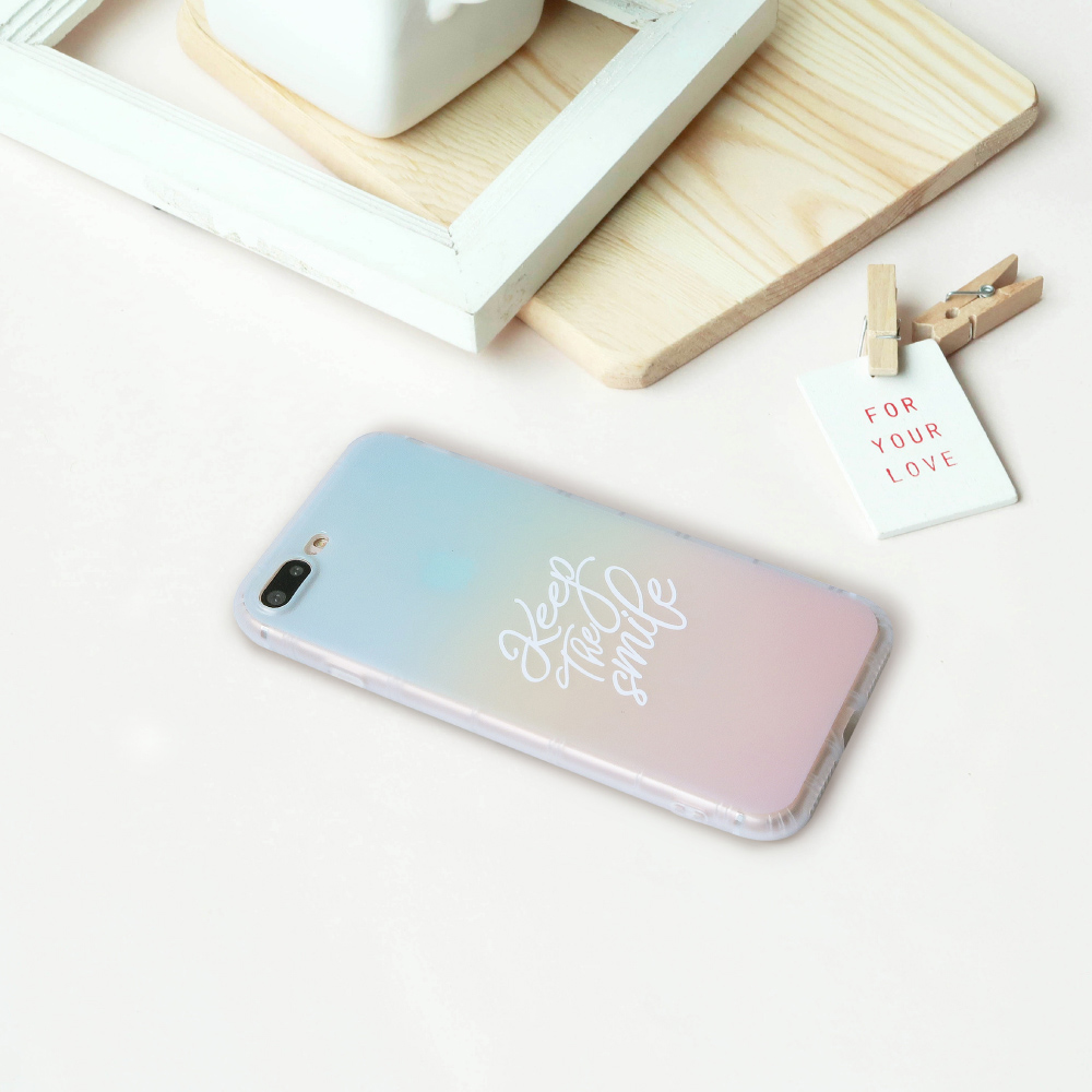INJOY mall iPhone 6 / 7 / 8 / Plus / X 系列 幸福微笑磨砂手機殼