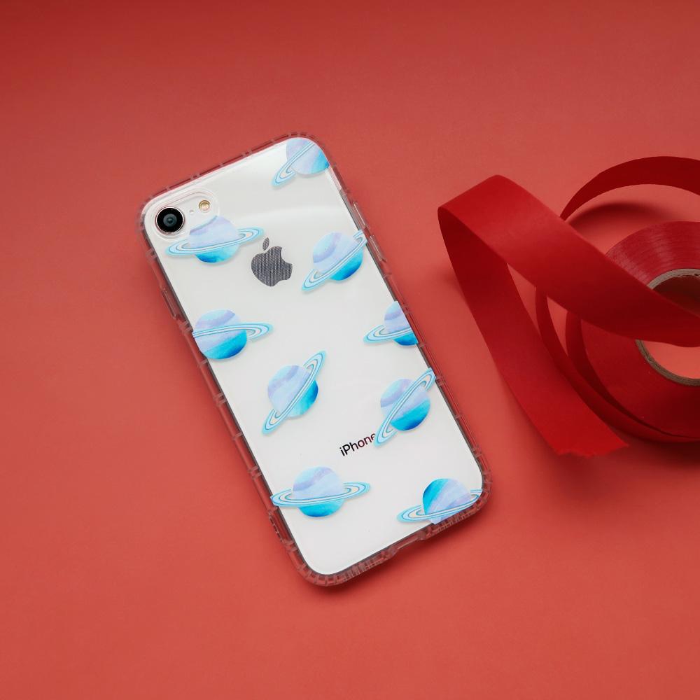 iPhone 6/7/8/Plus/XS/XR/max粉樂星球防摔耐震 亮面手機殼