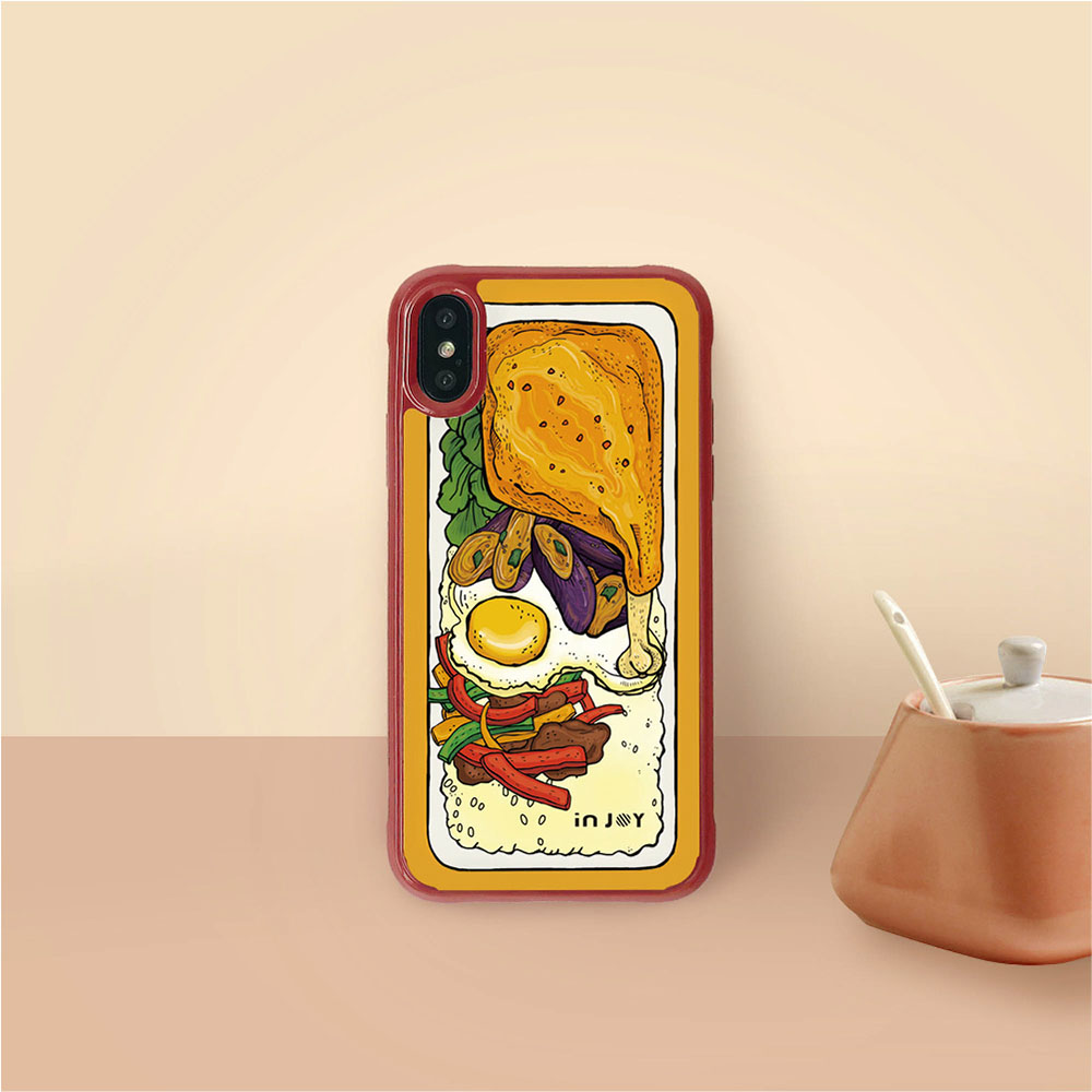 INJOY mall|iPhone 7/8/Plus/X/XS/XR/max 好好食便當耐撞擊邊框手機殼