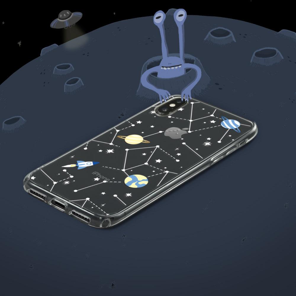 INJOY mall iPhone 6/7/8/Plus/X/XS/XR/max太空迷航透明耐衝擊防摔手機殼