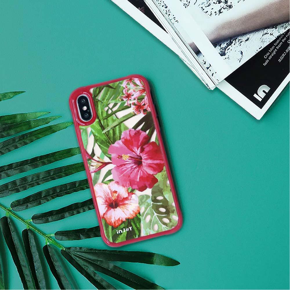 INJOY mall|iPhone 7 / 8 / Plus / X 系列 熱帶度假風情  耐撞擊邊框手機殼
