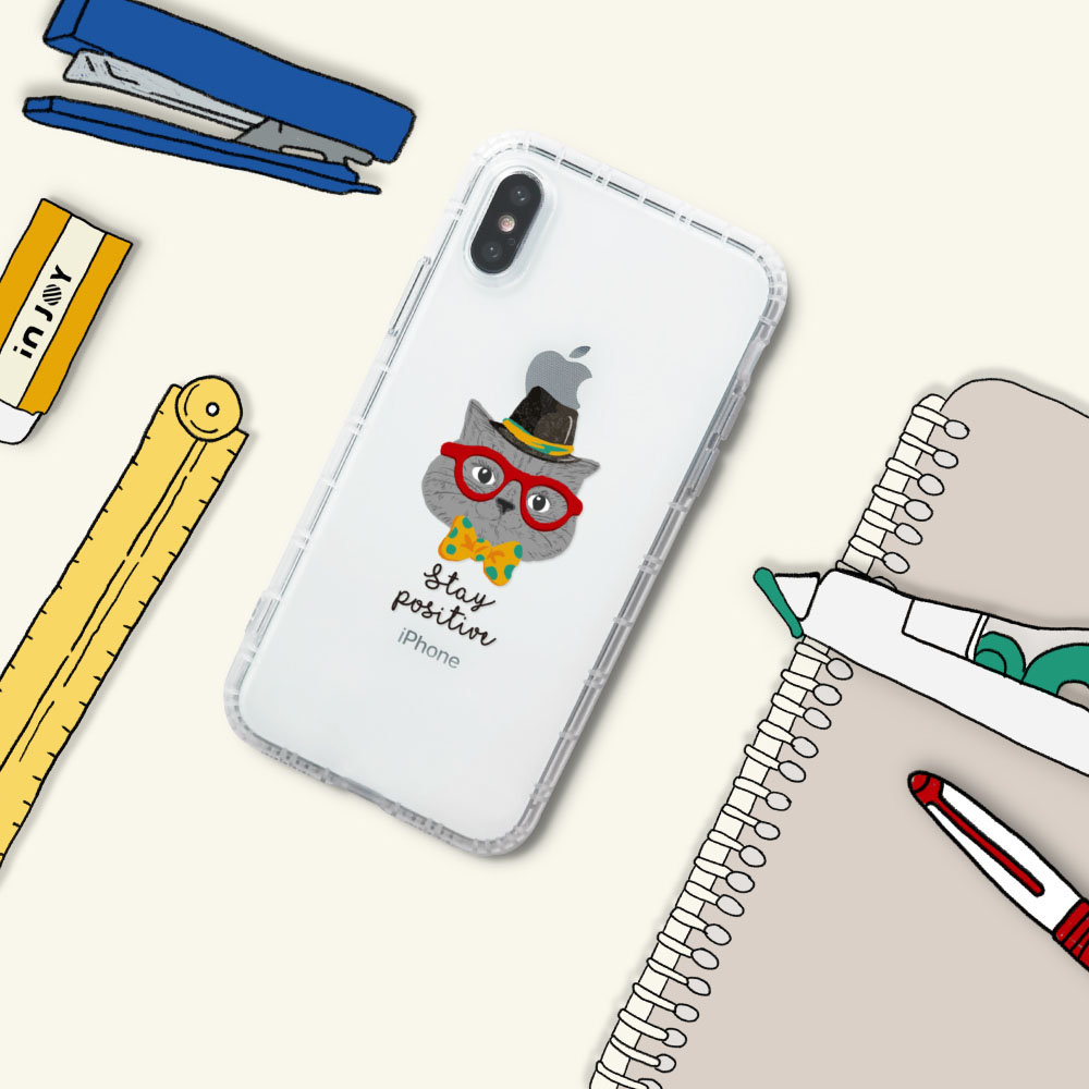 INJOY mall iPhone 6/7/8/Plus/XS/XR/max魔術帽貓防摔耐震亮面手機殼