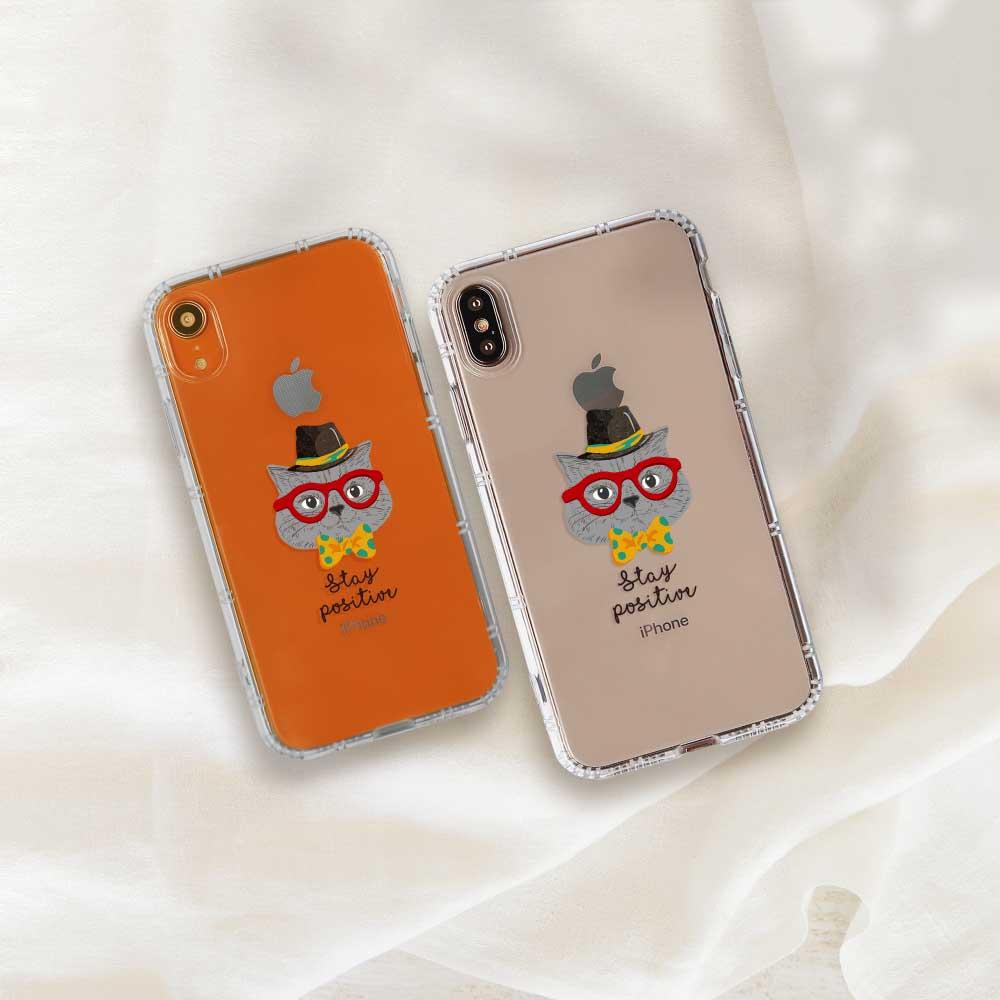 INJOY mall|iPhone 6/7/8/Plus/XS/XR/max/11/11pro/11max 魔術帽貓防摔耐震亮面手機殼