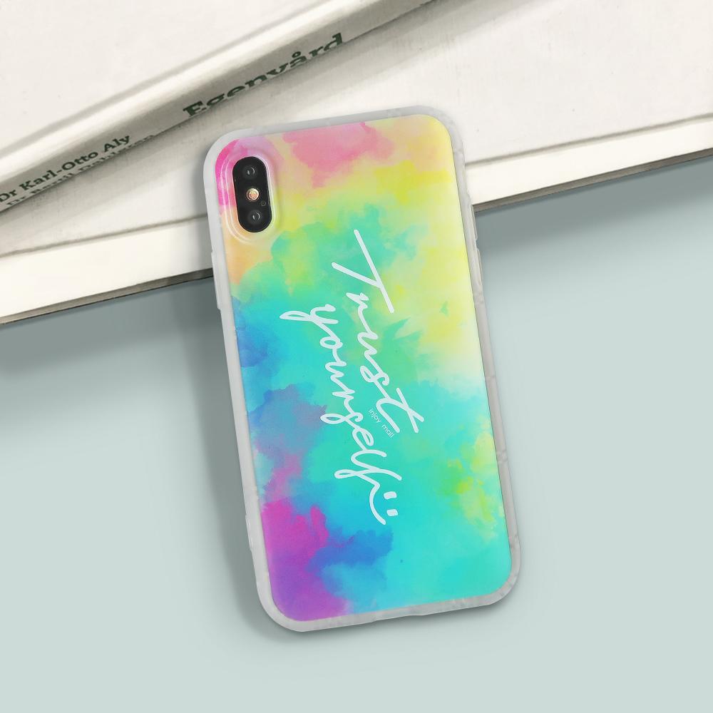 INJOY mall iPhone 6 / 7 / 8 / Plus / X 系列 繽紛雲彩磨砂手機殼