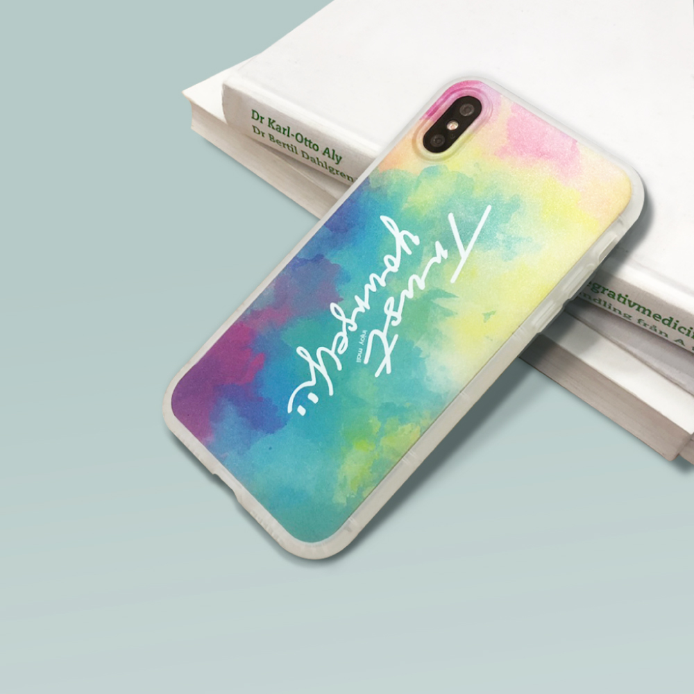 INJOY mall iPhone 6/7/8/Plus/XS/XR/max繽紛雲彩防摔耐震磨砂手機殼
