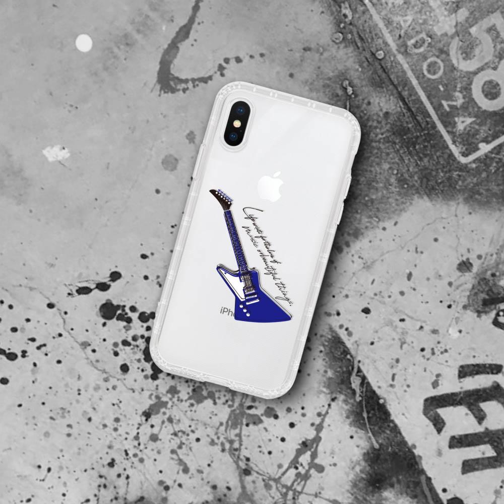 INJOY mall|iPhone 6/7/8/Plus/XS/XR/max潮流魅力電吉他耐震亮面手機殼