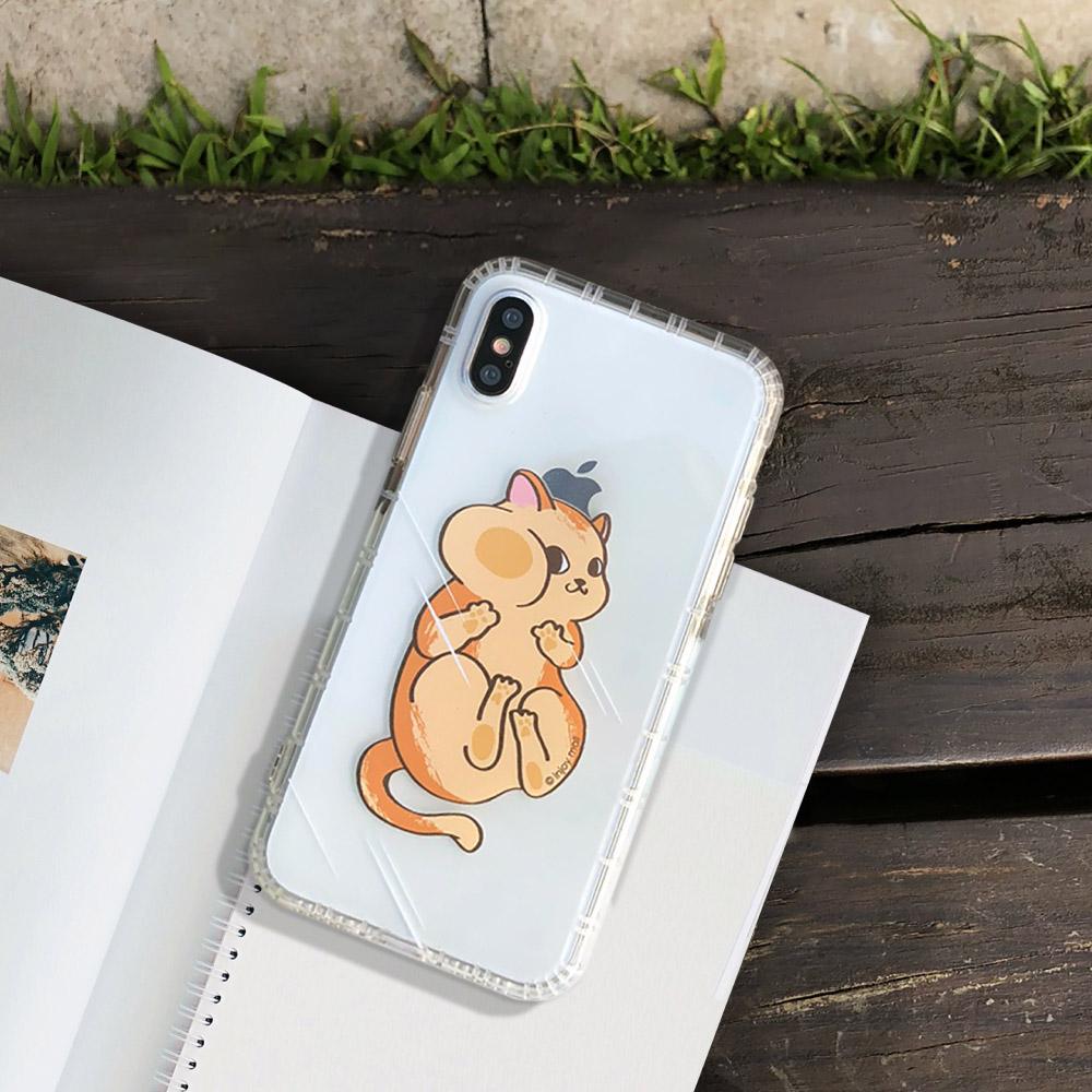 INJOY mall iPhone 6 / 7 / 8 / Plus / X 系列 貼玻璃俏皮貓亮面手機殼