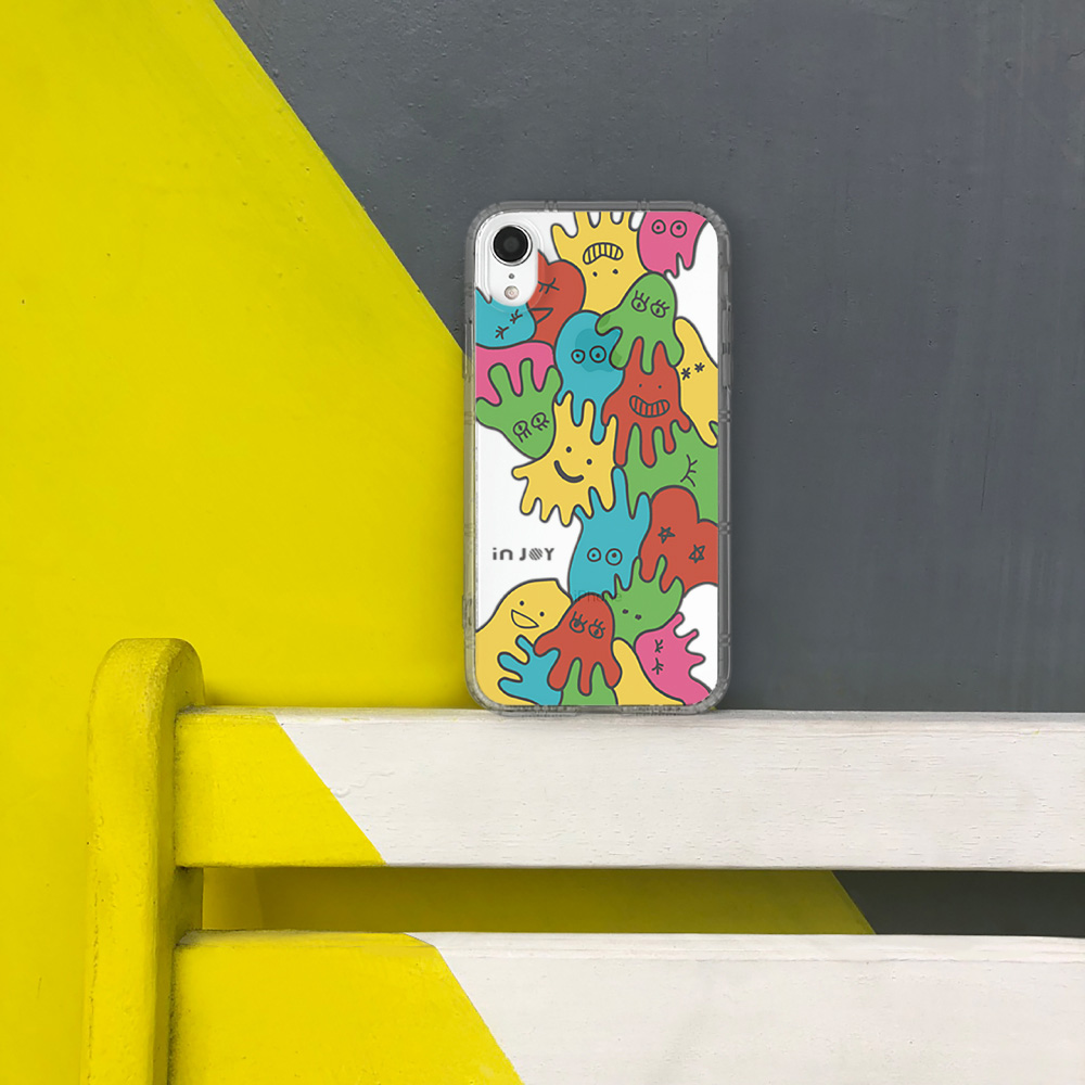 INJOY mall iPhone 6/7/8/Plus/XS/XR/max俏皮螢光精靈防摔耐震亮面手機殼