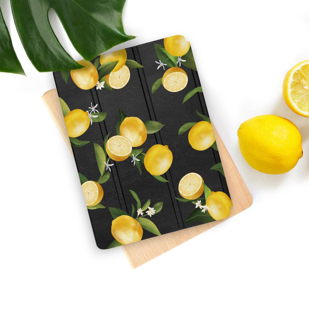 INJOY mall|iPad 9.7 2017 系列 微甜檸檬 Smart cover皮革平板保護套