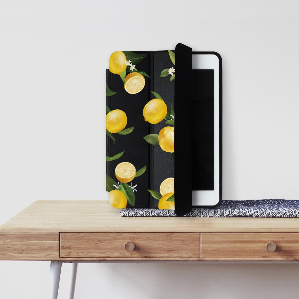 INJOY mall|iPad Pro 12.9 系列 微甜檸檬 Smart cover皮革平板保護套