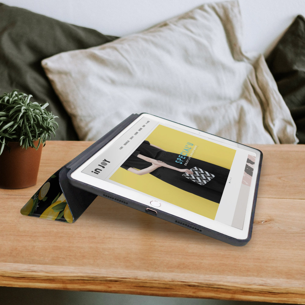 INJOY mall|iPad mini4 系列 微甜檸檬 Smart cover皮革平板保護套