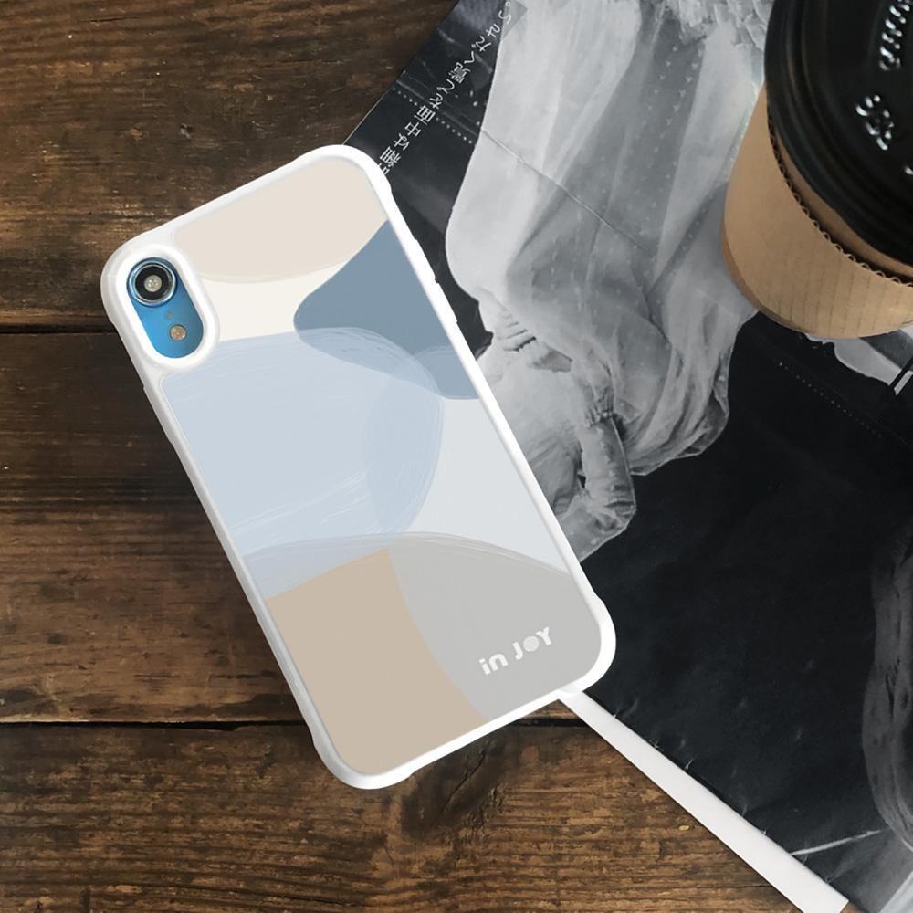 INJOY mall|iPhone 7/8/Plus/X/XS/XR/max 輕柔米蘭幾何色塊耐撞擊邊框手機殼