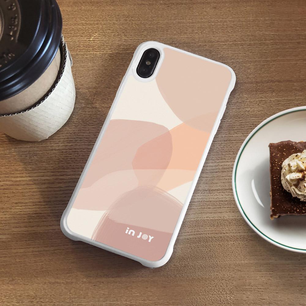 INJOY mall iPhone 7/8/Plus/X/XS/XR/max 法式浪漫幾何色塊耐撞擊邊框手機殼
