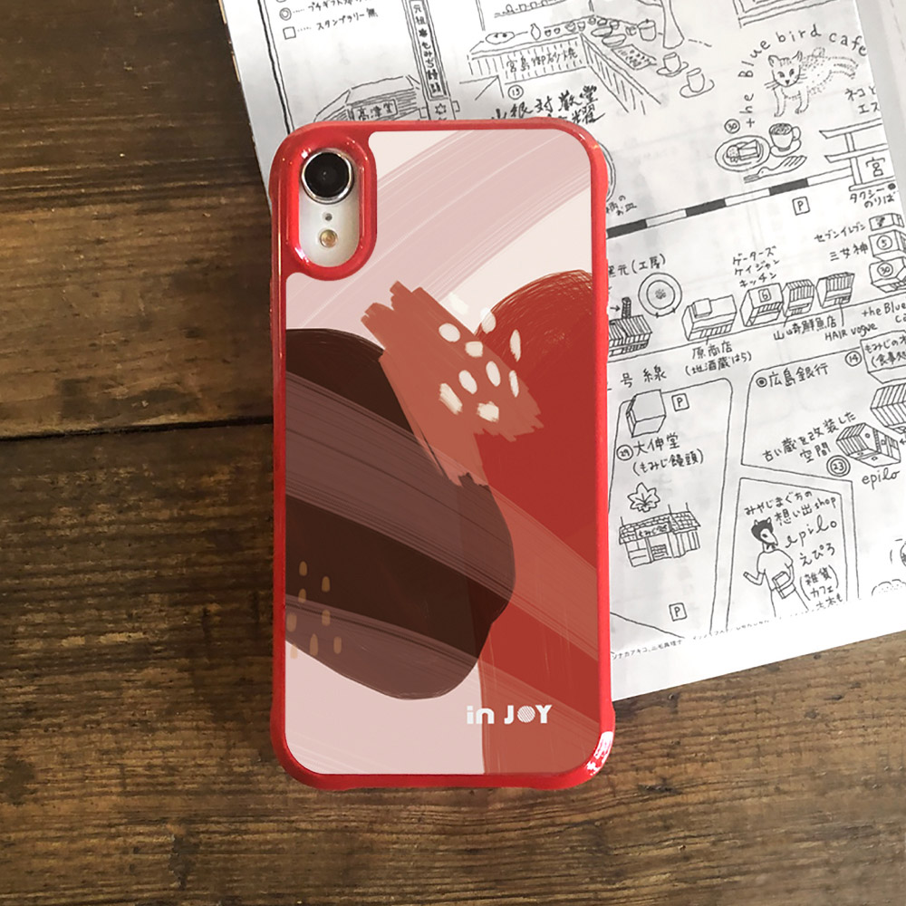 INJOY mall|iPhone 7/8/Plus/X/XS/XR/max/11/11pro/11max 熱情莓果幾何色塊耐撞擊邊框手機殼