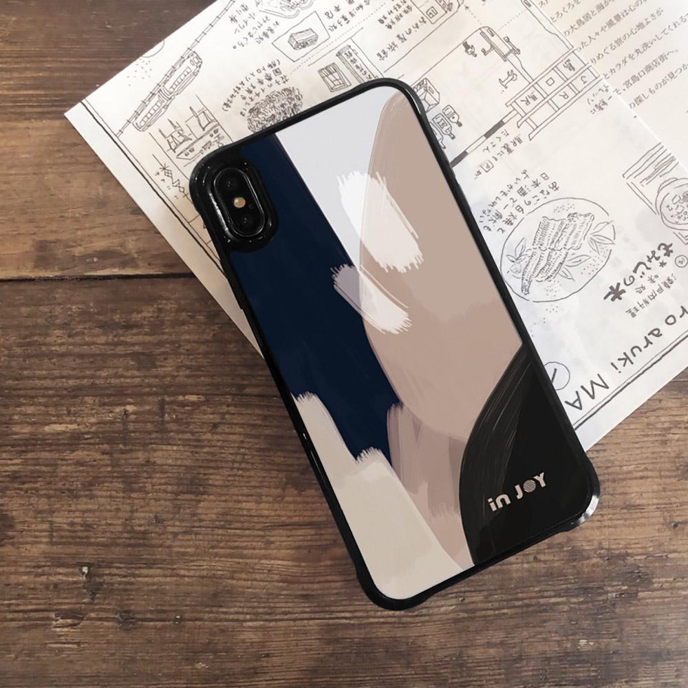 INJOY mall|iPhone 7/8/Plus/X/XS/XR/max/11/11pro/11max 低調中性幾何色塊耐撞擊邊框手機殼