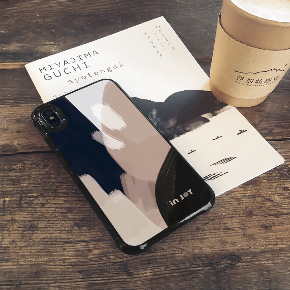 INJOY mall|iPhone 7/8/Plus/X/XS/XR/max 低調中性幾何色塊耐撞擊邊框手機殼