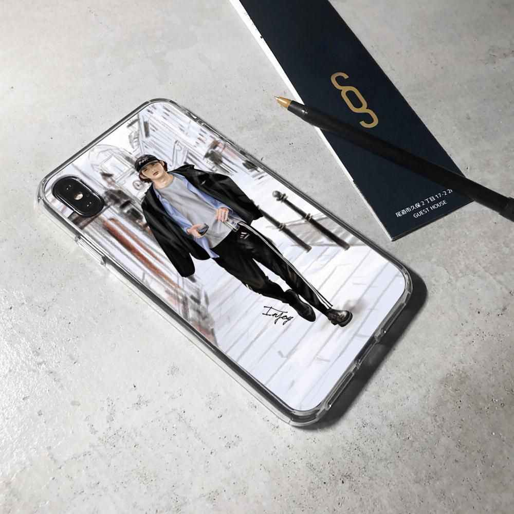 INJOY mall|iPhone 6/7/8/Plus/X/XS/XR/max 倫敦品味男子透明耐衝擊防摔手機殼