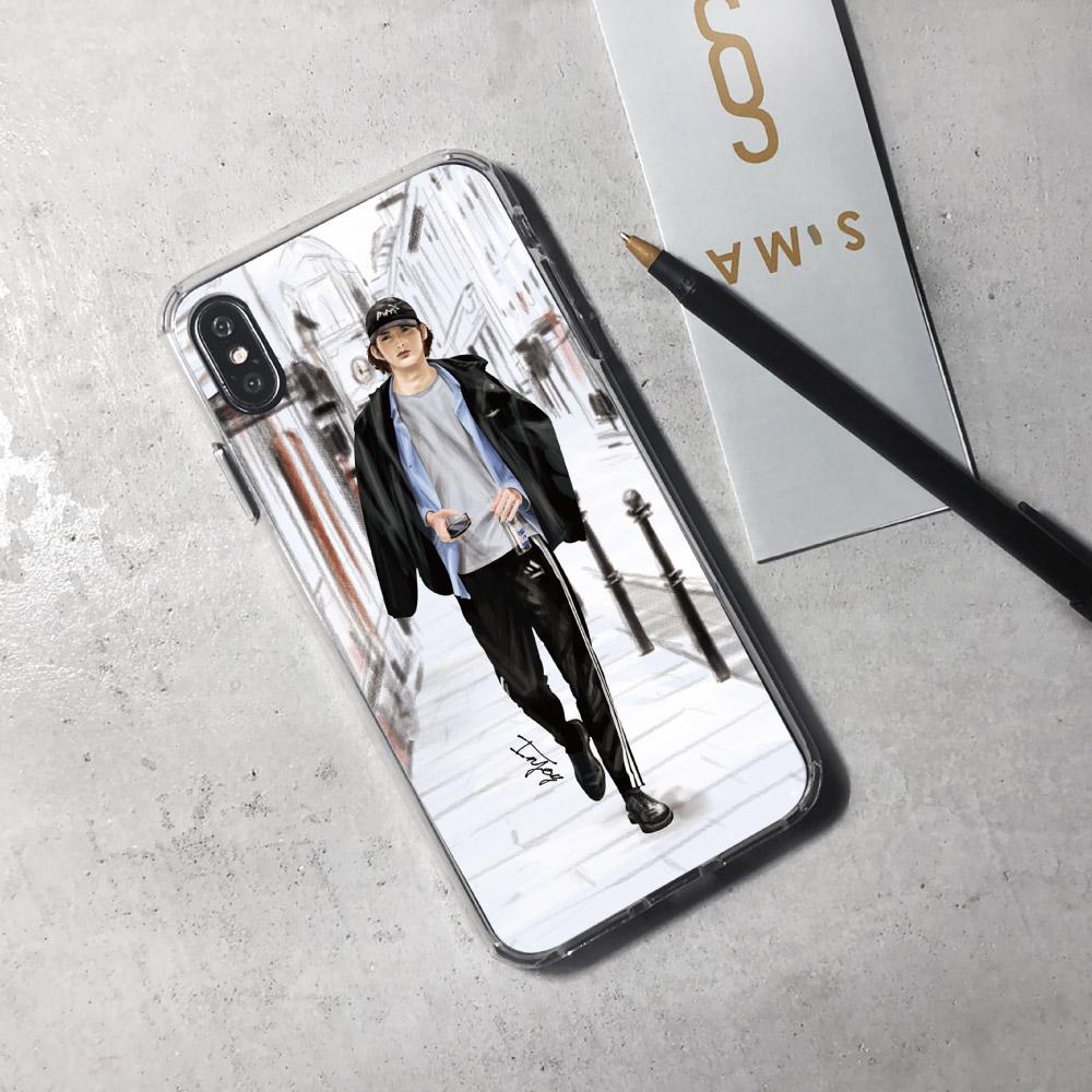 INJOY mall|iPhone 6/7/8/Plus/X/XS/XR/max/11/11pro/11max/SE2 倫敦品味男子透明耐衝擊防摔手機殼