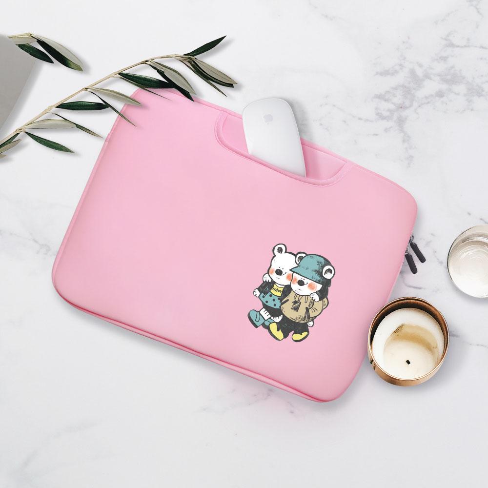 INJOY mall|泰迪熊情侶MacBook Air/MacBook Pro/11,13,15吋,apple手提筆電包