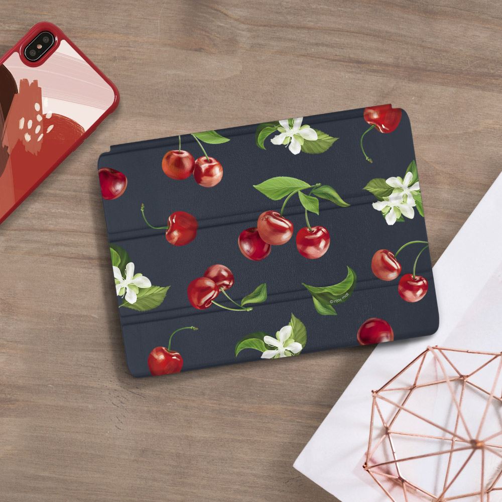INJOY mall|iPad 9.7 2017 系列 香甜櫻桃 Smart cover皮革平板保護套